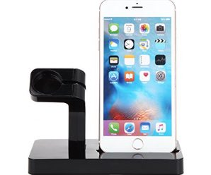 Apple Watch Charger Stand Dock, FACEVER Stand Holder & Charging Docking Station For Apple iWatch, iPhone, iPod -Black