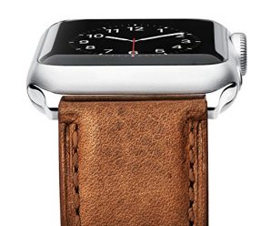 [Upgraded] Apple Watch Band, Benuo [Vintage Series] Premium Genuine Leather Strap, Classic Bracelet Replacement with Secure Buckle, Adapters for iWatch Series 2/Series 1/Edition/Sport 38mm (Brown)