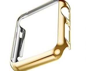 Hovisi Super Thin PC Plating Protective Bumper for Apple Watch Case 42mm (Gold)